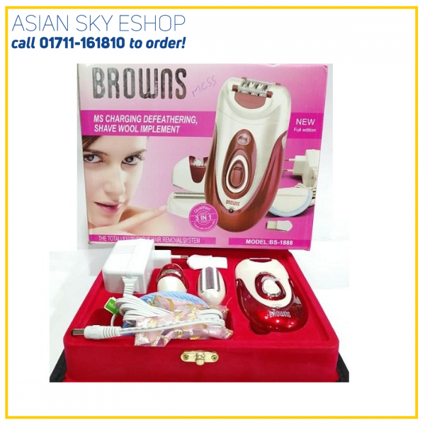 lady shaver- trimmer, Epilator Browns 3 in 1