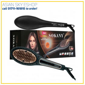 Sokany Ionic Hair Straightener Brush -750 F