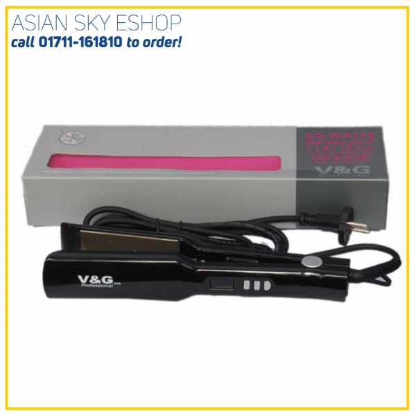V&G CERAMIC FLAT IRON PROFESSIONAL HAIR STRAIGHTENER V-1260